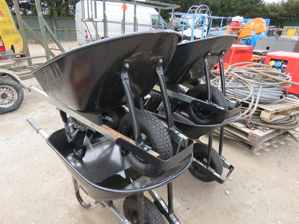 Lot 41 - 4X HEAVY DUTY WHEELBARROWS