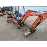 KUBOTA 1.5TONNE DIGGER KUBOTA KX015-4 1.5TONNE MINI DIGGER, YEAR 2015 BUILD. SUPPLIED WITH 2 X