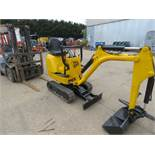 JCB 8008CTS MICRO EXCAVATOR C/W 1 GRADING BUCKET, YEAR 2015, SN: JCB8008A00764702, RECORDED HOURS: