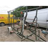 SINGLE AXLE COILED PIPE TRAILER
