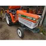 KUBOTA 18HP 2WD COMPACT TRACTOR C/W REAR LINKAGE. WHEN TESTED WAS SEEN TO DRIVE, STEER AND BRAKE