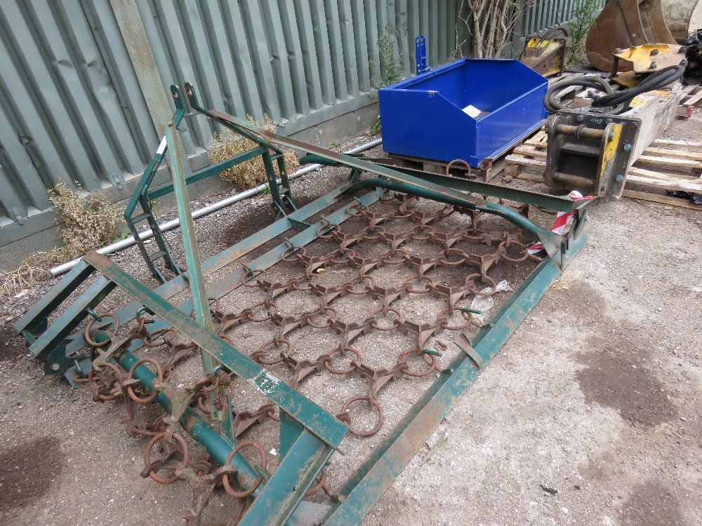 Tractor mounted folding grass harrows - Image 3 of 3