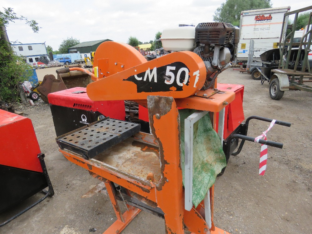 PETROL ENGINED CLIPPER SAWBENCH - Image 3 of 3