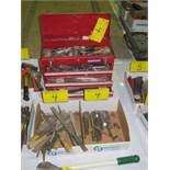 LOT ASST. MASTERCRAFT TOOL BOX W/CONTENTS, FILES, PUNCHES, ETC.