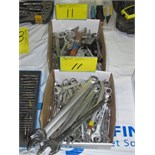 LOT ASST. COMBINATION WRENCHES, MACHINE WRENCHES, ETC.