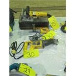 ASST. DEWALT D682-04 PLATE JOINER, DW303 RECIPROCATING SAW, DW272 DRYWALL SCREW GUN, ETC.