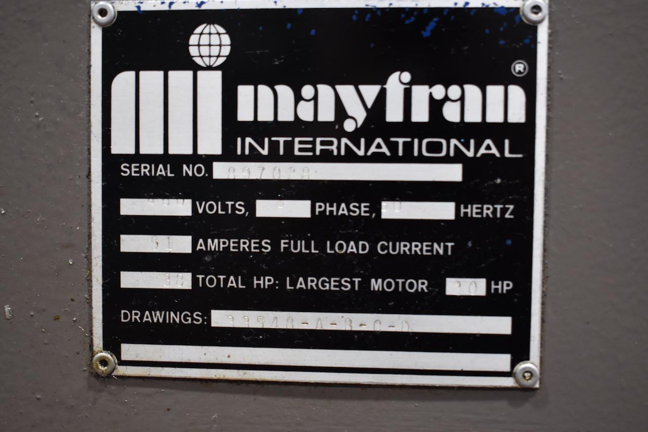 Lot 3 - MAYFRAN CHIP PROCESSING SYSTEM: S/N 897028 (1989); W/Model 2-2020-4 Shredder; Model TD-3000 Chip