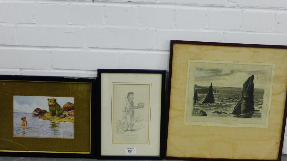 Lot 196 - Three framed prints to include 'Henry Dimsdale, Mayor of Garret', 'Lawson Wood' and a 'William