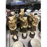 A set of six monks