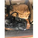 Two AllSaints bags plus one other and an old suitcase