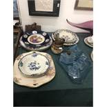 An art deco dressing table set and quantity of china