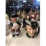 A Victorian Toby jug and Royal Doulton Robin Hood character jug