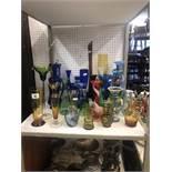 A quantity of assorted glassware