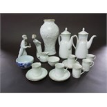 A collection of Royal Doulton Berkshire pattern coffee wares, TC1021 comprising a pair of coffee
