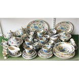 An extensive collection of Masons Regency pattern wares including two oval graduated meat plates,