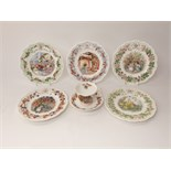 A collection of Royal Doulton Brambly Hedge wares comprising a set of four seasons plates, a further