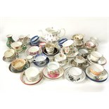 A reference collection of late 18th and early 19th century tea wares of various form including