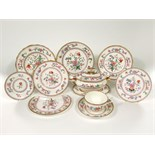 An extremely extensive late 19th and early 20th century Royal Worcester dinner service with