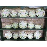 A collection of Villeroy & Boch Geranium pattern dinner and tea wares comprising a two handled