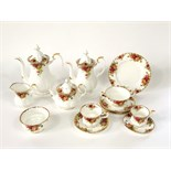 An extensive collection of Royal Albert Old Country Roses pattern dinner, coffee, tea and other