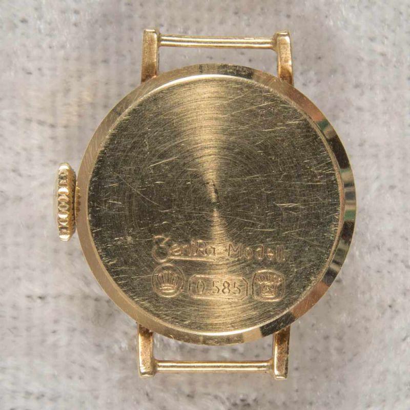 Lot 5831 - 2 x Zentra Damenarmbanduhr, 585er Gelbgold, zusammen ca. 30 gr. (brutto).