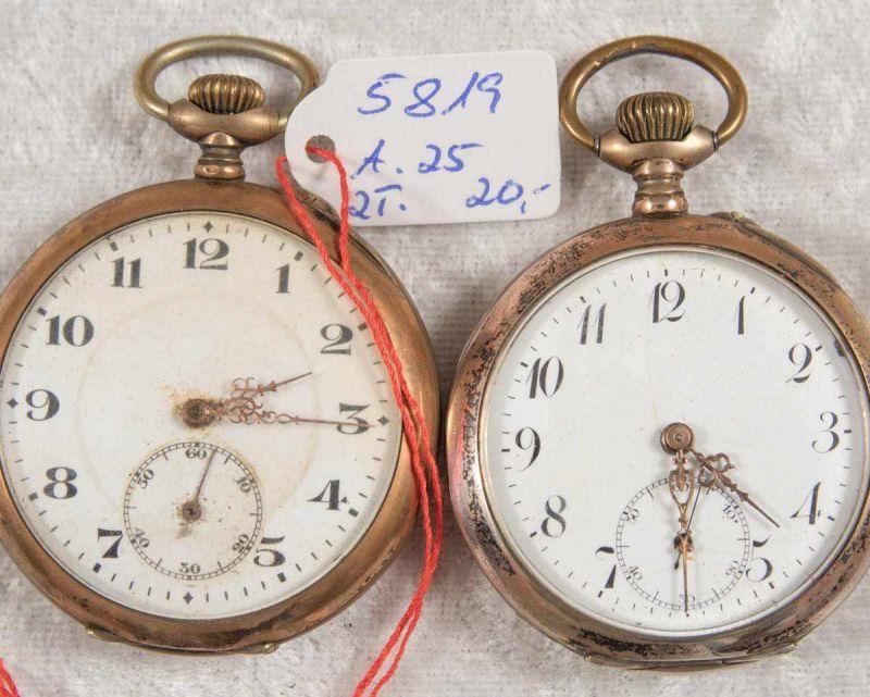 2 alte/antike Taschenuhren. Silbergehäuse, ungeprüft. - Image 12 of 20