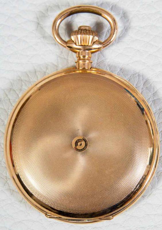 Große 585er/14K Gelbgold Sprungdeckel Herrentaschenuhr, brutto ca. 108 gr. Gehäusedurchmesser ca. 54 - Image 8 of 8