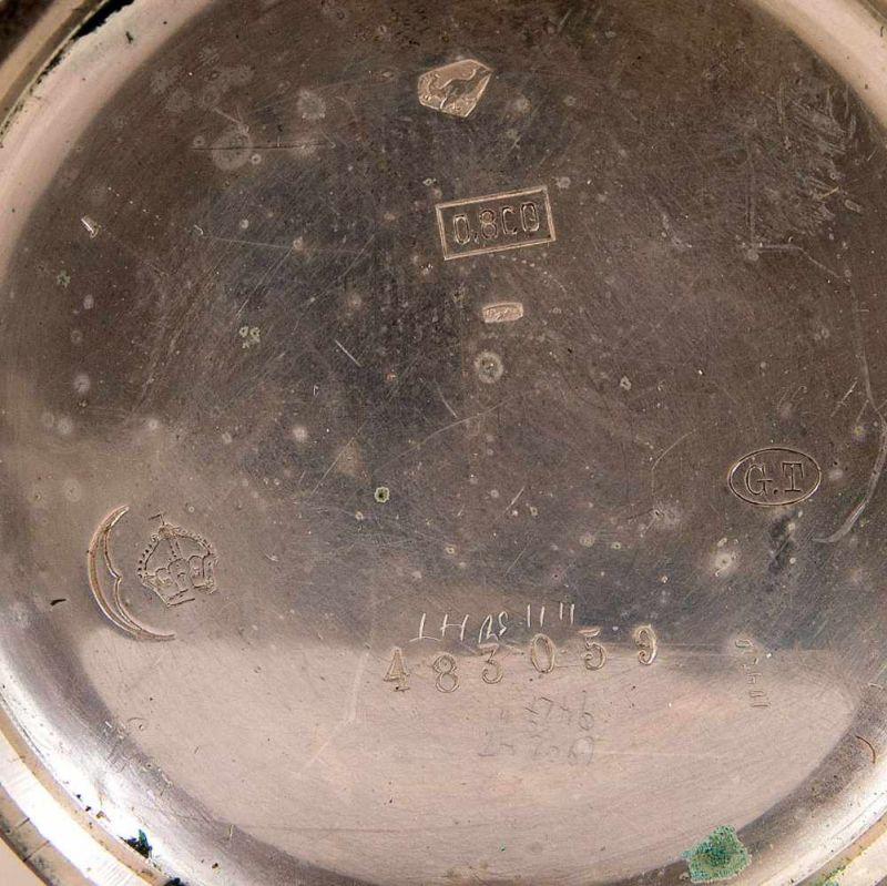 """2 alte/antike Taschenuhren, Silber, 1 x bez.: """"Hermann Krüsken - Aachen."""" Werke nicht auf - Image 14 of 17"""