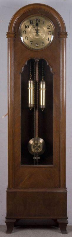 Lot 5806 - Alte/antike Bodenstanduhr, Art-Deco, deutsch 1920er/30er Jahre, 2 gewichtige Standuhr mit