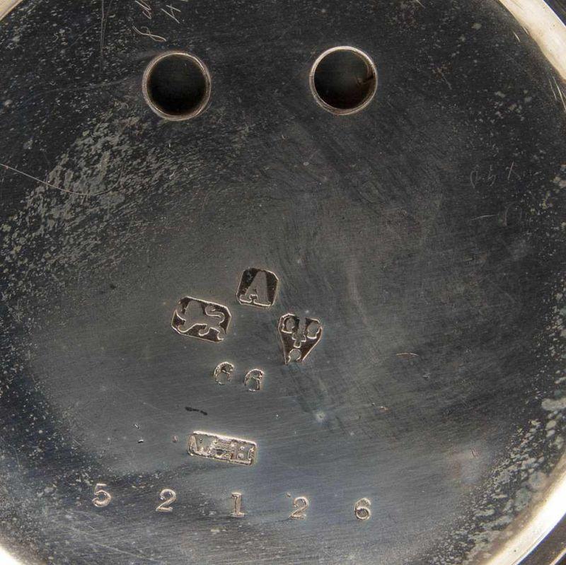 """""""English Lever Chronograph"""", Gehäuse in 925er Sterlingsilber, Werk & Gehäuse nummerngleich (No. - Image 8 of 12"""