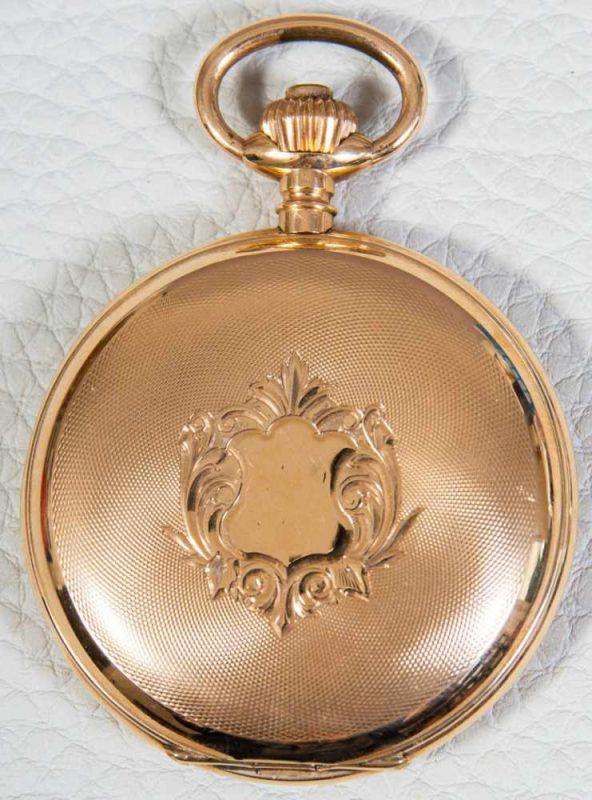 Große 585er/14K Gelbgold Sprungdeckel Herrentaschenuhr, brutto ca. 108 gr. Gehäusedurchmesser ca. 54 - Image 2 of 8