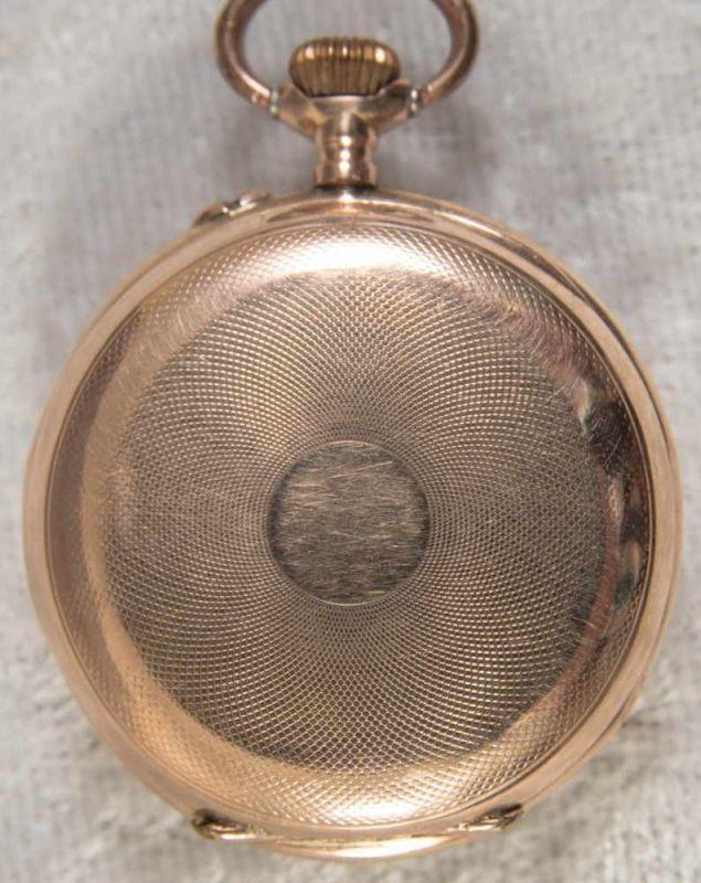 Goldene Halbsavonette Damentaschenuhr, glattes 585er Gelbgoldgehäuse, Durchmesser ca. 30 mm, ca. - Image 7 of 7