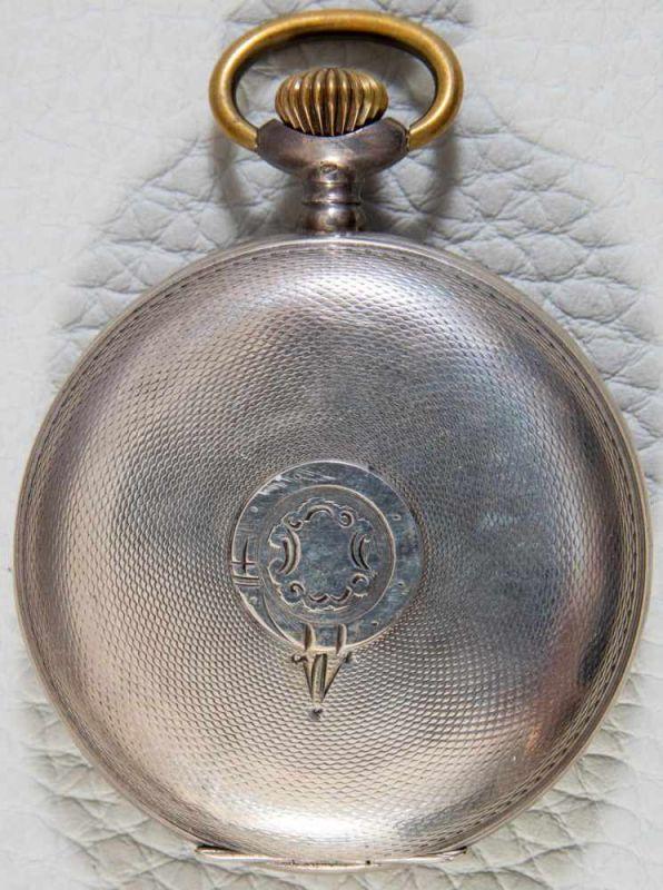 """""""HEBDOMAS - 8 JOURS"""" - SAVONETTE Herrentaschenuhr in 800er Silber, Porzellanziffernblatt mit arab. - Image 6 of 7"""