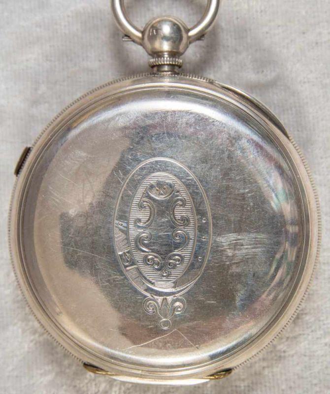 """""""English Lever Chronograph"""", Gehäuse in 925er Sterlingsilber, Werk & Gehäuse nummerngleich (No. - Image 12 of 12"""