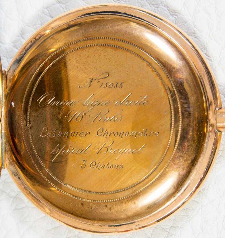 Große 585er/14K Gelbgold Sprungdeckel Herrentaschenuhr, brutto ca. 108 gr. Gehäusedurchmesser ca. 54 - Image 6 of 8