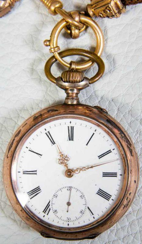 2 alte/antike Herrentaschenuhren, 800er Silbergehäuse, versch. Alter, Größen & Erhalt. 1 - Image 5 of 9