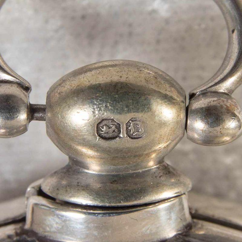 """Spindeltaschenuhr des """"JOHN ROBERTS - LONDON"""" - No. 22251. Gehäuse & Übergehäuse in Silber, weiß - Image 10 of 11"""