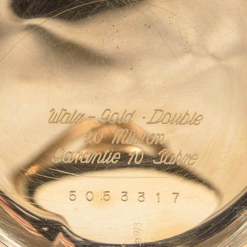 Lot 5823 - LONGINES, vergoldete Savonette-Taschenuhr, ungeprüft. Durchmesser ca. 5,2 cm.