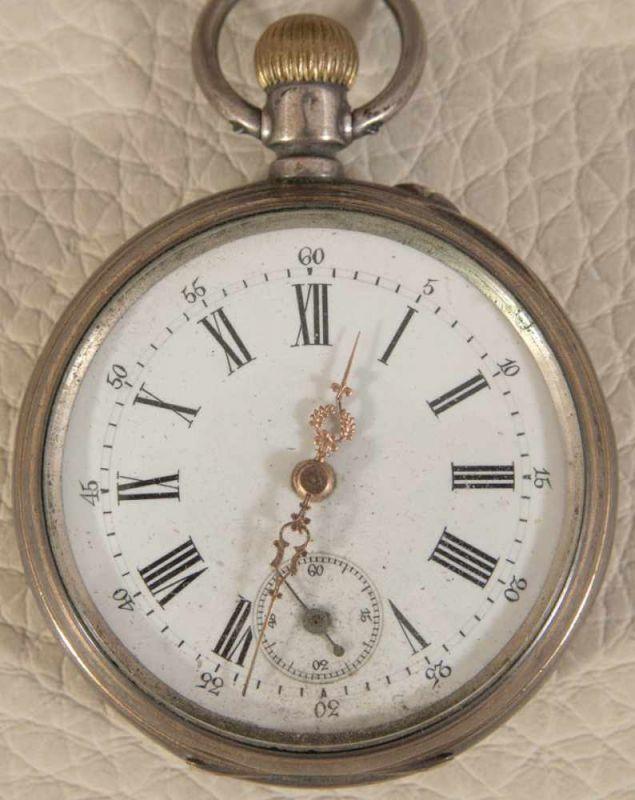 """2 alte/antike Taschenuhren, Silber, 1 x bez.: """"Hermann Krüsken - Aachen."""" Werke nicht auf - Image 2 of 17"""