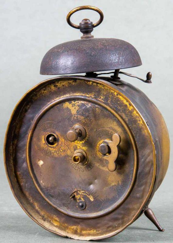 """Antiker Wecker """"Staubdicht"""". Ungeprüft. Höhe ca. 19 cm. - Image 2 of 2"""
