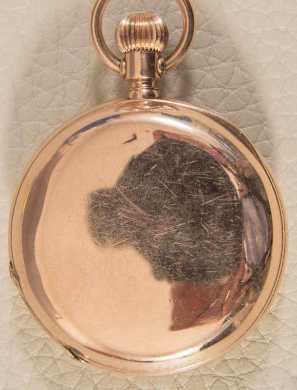 Lot 5837 - Goldene Savonette Herrentaschenuhr, um 1900, Gehäuseno. 18832, vergoldeter & versilberter