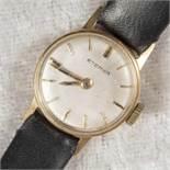 """""""ETERNA""""-Damenarmbanduhr. 585er Gelbgoldgehäuse.Werk nicht auf Vollständigkeit und Funktion geprüft."""