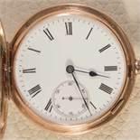 Goldene Savonette Herrentaschenuhr, um 1900, Gehäuseno. 18832, vergoldeter & versilberter