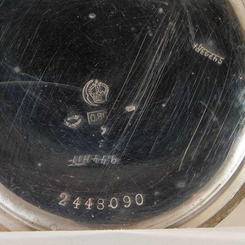 """2 alte/antike Taschenuhren, Silber, 1 x bez.: """"Hermann Krüsken - Aachen."""" Werke nicht auf - Image 6 of 17"""