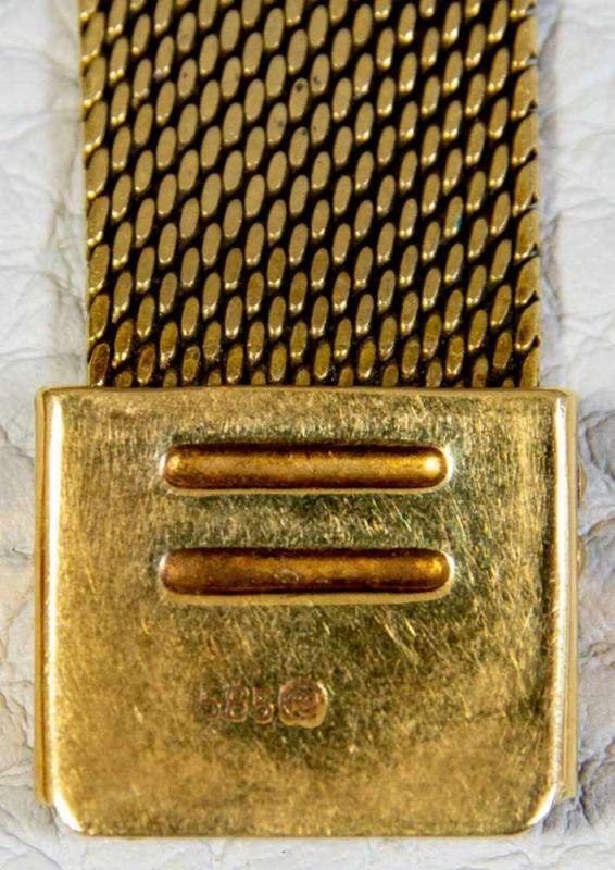 OMEGA SEAMASTER AUTOMATIK Herrenarmbanduhr der 1960er/70er Jahre, Gehäuse und Armband in 585er/14K - Image 3 of 6