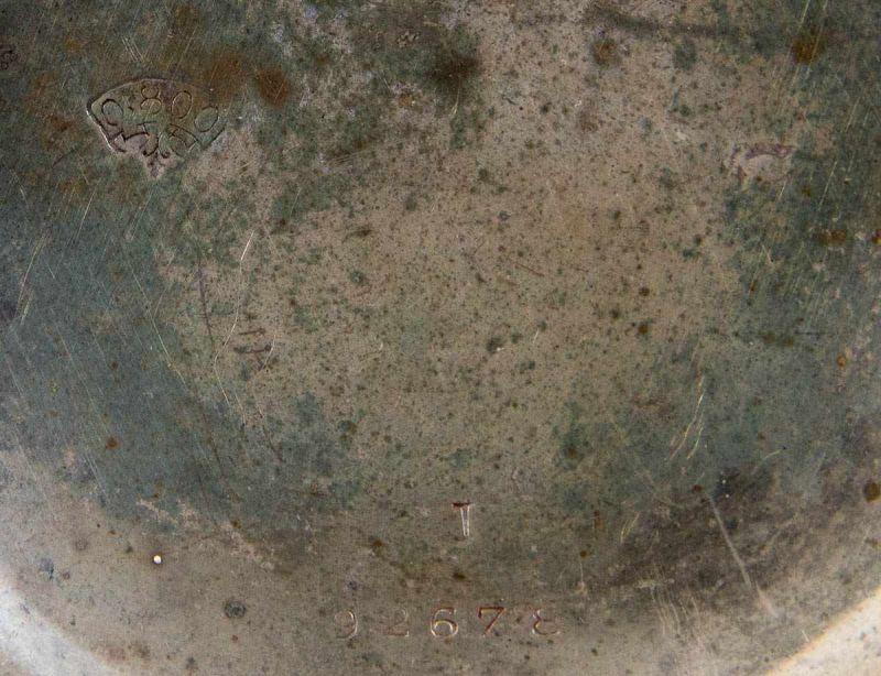 """""""HEBDOMAS - 8 JOURS"""" - SAVONETTE Herrentaschenuhr in 800er Silber, Porzellanziffernblatt mit arab. - Image 4 of 7"""