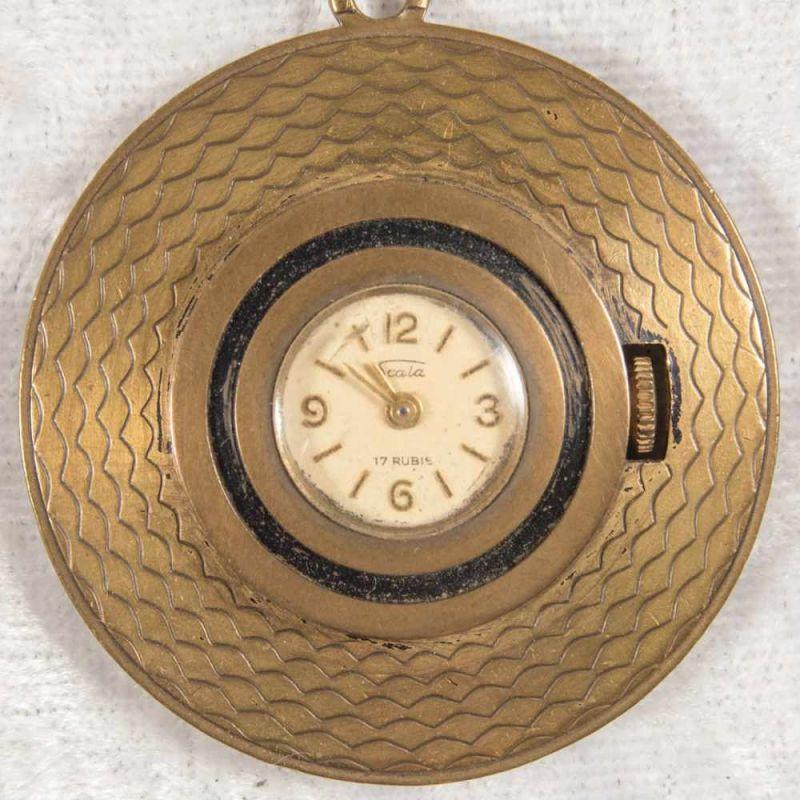 2 alte/antike Damen-Schmucktaschenuhren, ungeprüft, 1 x mit transluzidem Emaille-Dekor. - Image 12 of 13