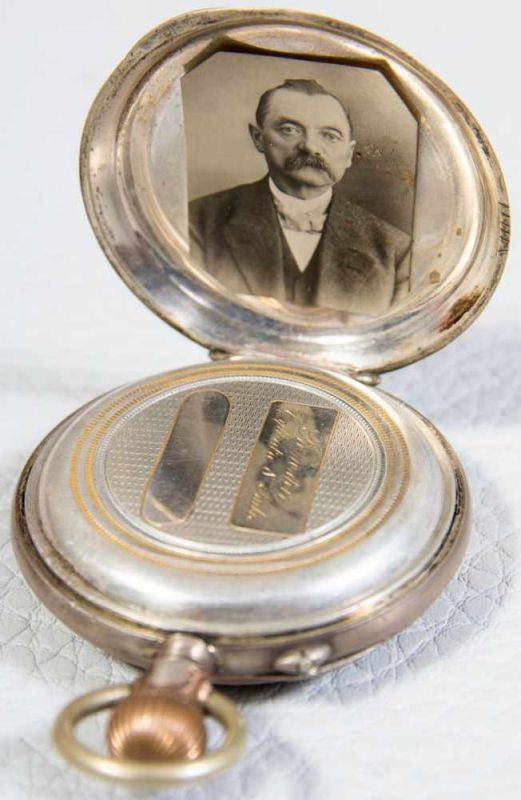 2 alte/antike Herrentaschenuhren, 800er Silbergehäuse, versch. Alter, Größen & Erhalt. 1 - Image 7 of 9