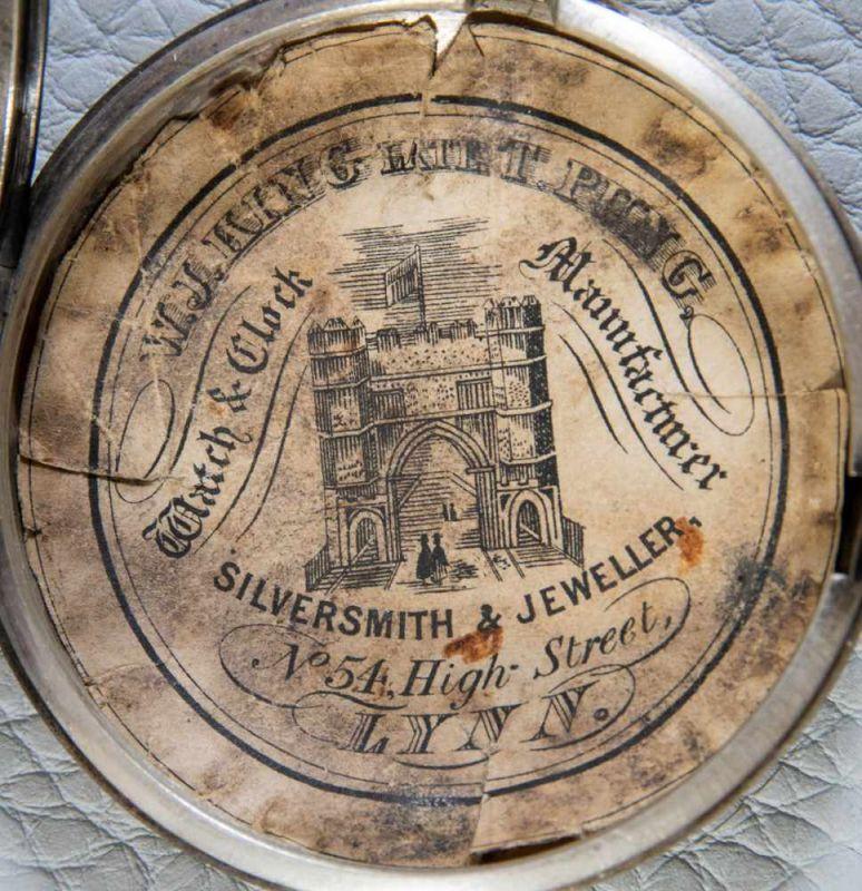 Lot 5849 - Antike, englische Spindeltaschenuhr, Gehäusedurchmesser ca. 52 mm, Gehäuse & Übergehäuse in 925er