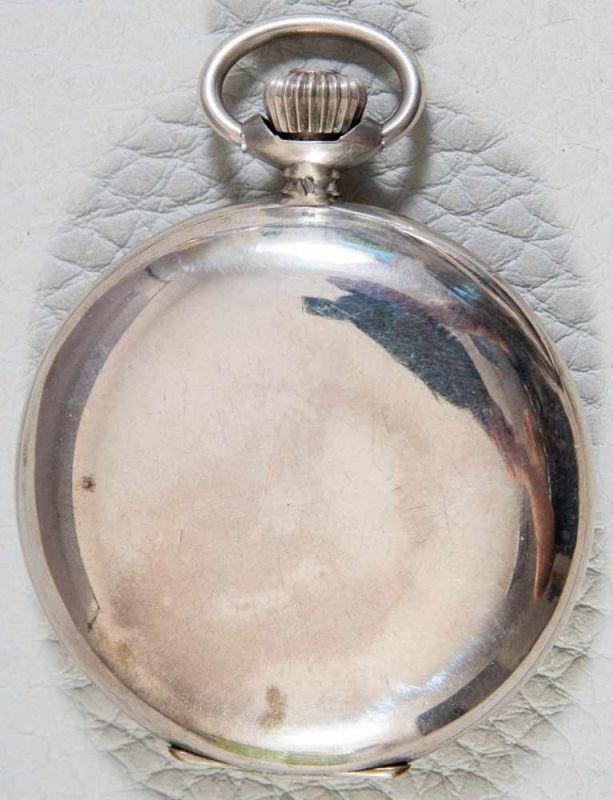 Antike IWC Savonette Herrentaschenuhr, um 1890, schweres 800er Silbergehäuse, weißes - Image 10 of 10